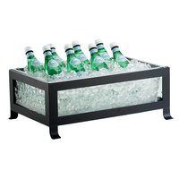 Cal-Mil 1581-12-43 Soho Black Ice Housing with Clear Pan - 20 3/4 inch x 14 3/4 inch x 8 inch