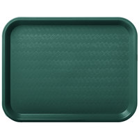 Carlisle CT101408 Cafe 10 inch x 14 inch Forest Green Standard Plastic Fast Food Tray
