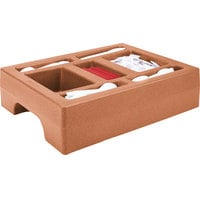 Cambro LCDCH10157 Coffee Beige Condiment Holder for Cambro 1000LCD / UC1000