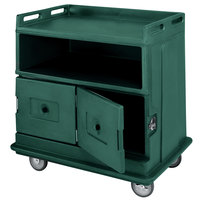 Cambro MDC24192 Granite Green Beverage Service Cart with 2 Doors - 44 1/2 inch x 30 inch x 44 inch