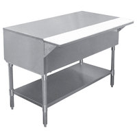 APW WT-4 22 1/2 inch x 63 1/2 inch Stainless Steel Work-Top Counter with Cutting Board and Galvanized Undershelf