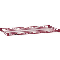 Metro HDM2148-DF Super Erecta Flame Red Drop Mat Wire Shelf - 21 inch x 48 inch