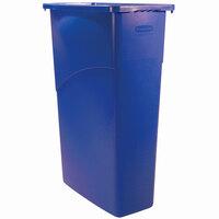 Rubbermaid 354000 Slim Jim Wall Blue Wall Hugger Trash Can - 23 Gallon (FG354000BLUE)