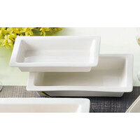 CAC TSP-21 White China Rectangular Tray 12 inch x 7 inch - 12/Case