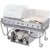 Bakers Pride CBBQ-30S-CP Liquid Propane 30 inch Ultimate Outdoor Charbroiler with Tank Caddy and Grill Cover Accessories