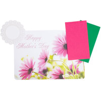 Hoffmaster 856732 10 inch x 14 inch Mother's Day Placemat Combo Pack - 200 / Case