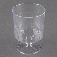 Fineline Flairware 2205 5.5 oz. Clear Plastic Wine Cup - 1 Piece 240 / Case