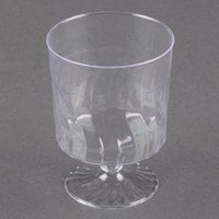Fineline Flairware 2205 5.5 oz. Clear Plastic Wine Cup - 1 Piece 10 / Pack
