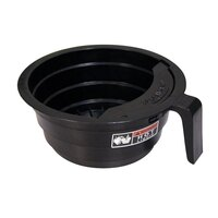 Bunn 20583.0003 Black 7 1/2 inch SplashGard Funnel with Decals for Coffee Brewers
