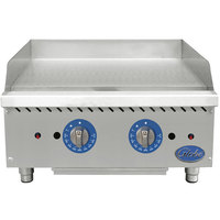 Globe GG24TG 24 inch Countertop Gas Griddle with Thermostatic Controls - 60,000 BTU
