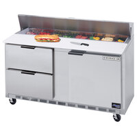 Beverage-Air SPED60-12-2 60 inch Refrigerated Salad / Sandwich Prep Table with One Door and Two Drawers