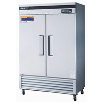 Turbo Air TSR-49SD 54 inch Super Deluxe Stainless Steel Two Solid Door Refrigerator - 49 Cu. Ft.