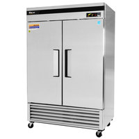 Turbo Air TSR-49SD 54 inch Super Deluxe Two Section Solid Door Reach in Refrigerator - 49 Cu. Ft.