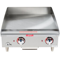 Star Max 524TGF 24 inch Countertop Electric Griddle with Snap Action Thermostatic Controls - 8000W