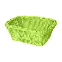 GET WB-1506-G 9 1/2 inch x 7 3/4 inch x 3 1/2 inch Designer Polyweave Green Rectangular Basket - 12 / Case