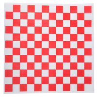 "Choice 12"" x 12"" Red Check Deli Sandwich Wrap Paper - 5000/Case"