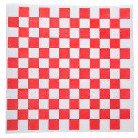 Choice 12 inch x 12 inch Red Check Deli Sandwich Wrap Paper - 5000/Case