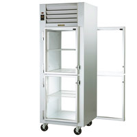 Traulsen G11004P 1 Section Glass Half Door Pass-Through Refrigerator - Left / Left Hinged Doors