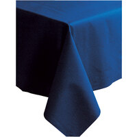 Hoffmaster 220834 50 inch x 108 inch Linen-Like Navy Blue Table Cover - 20 / Case
