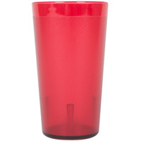 12 oz. Red Pebbled Plastic Tumbler - 12 / Pack