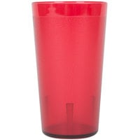 12 oz. Red Pebbled Plastic Tumbler - 12/Pack