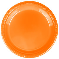 Creative Converting 28191021 9 inch Sunkissed Orange Plastic Dinner Plate - 240 / Case
