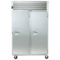 Traulsen G24317P 2 Section Pass-Through Hot Food Holding Cabinet with Right Hinged Doors