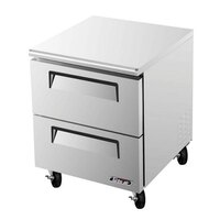 Turbo Air TUR-28SD-D2 28 inch Super Deluxe Two Drawer Undercounter Refrigerator - 7 Cu. Ft.