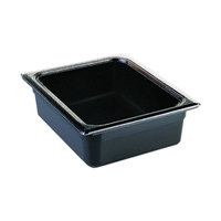 Cambro 24CW110 Camwear 1/2 Size Black Food Pan - 4 inch Deep