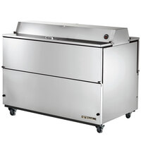 True TMC-58-S-DS 58 inch Stainless Steel Two Sided Milk Cooler