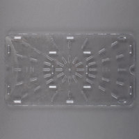 Carlisle 1021507 StorPlus Full Size Clear Polycarbonate Drain Tray