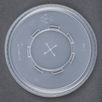 Dart Solo Conex L32N05 Translucent Plastic Lid with Straw Slot - 500 / Case