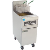 Frymaster PH155-CBL Liquid Propane High Efficiency Fryer 50 lb. with Basket Lift and Programmable Computer Controls - 80,000 BTU