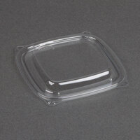Dart Solo C816BDL PresentaBowls Pro Clear Square Lid for 8, 12, and 16 oz. Square Plastic Bowls   - 504/Case