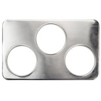 3 Hole Steam Table Adapter Plate - 6 3/8 inch