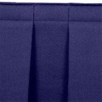 National Public Seating SB16-96 Navy Box Stage Skirt for 16 inch Stage - 96 inch Long