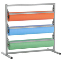 Bulman T368R-36 36 inch Three Deck Tower Paper Rack with Straight Edge Blade