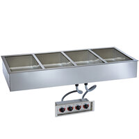Alto-Shaam 400-HW/D4 Four Pan Drop In Hot Food Well - 4 inch Deep Pans, 120V