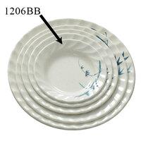 Blue Bamboo Melamine Curved Rim Plate – 6 inch 12 / Pack
