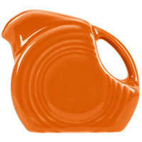Homer Laughlin 475325 Fiesta Tangerine 5 oz. Mini Disc Creamer Pitcher   - 4/Case