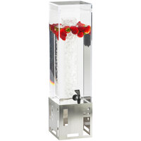 Cal-Mil 1602-1-55 1.5 Gallon Stainless Steel Beverage Dispenser with Ice Chamber