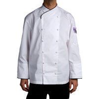 Chef Revival J008-XS Chef-Tex Size 32 (XS) Customizable Poly-Cotton Corporate Chef Jacket with Black Piping