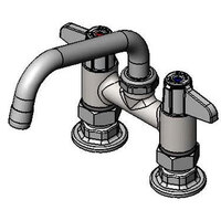 Equip by T&S 5F-4DLX06 Deck Mount Swivel Base Mixing Faucet with 6 inch Swivel Nozzle 4 inch Centers - ADA Compliant