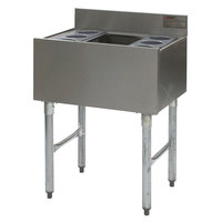 Eagle Group B3CT-22-7 36 inch Underbar Cocktail / Ice Bin with Post-Mix Cold Plate and Eight Bottle Holders