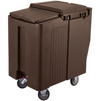 Cambro ICS125T131 Dark Brown Sliding Lid Portable Ice Bin - 125 lb. Capacity Tall Model