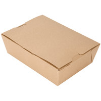 Microwavable Paper #3 Take Out Box 7 3/4 inch x 5 1/2 inch x 2 1/2 inch - 200/Case