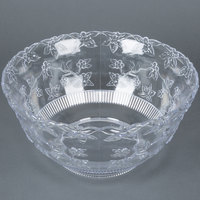 Fineline Platter Pleasers 3512 10 Qt. Clear Plastic Punch Bowl