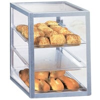 Cal-Mil 268 Three Tier Aluminum Display Case with Rear Door - 13 1/2 inch x 19 3/4 inch x 18 1/2 inch