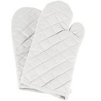 Choice 15 inch Silicone Cloth Oven / Freezer Mitts - 2/Pack