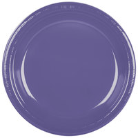 Creative Converting 28115031 10 inch Purple Plastic Plate - 20/Pack